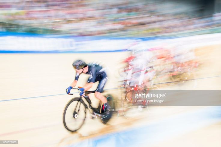 #TWC2017 Aaron Gate of New Zealand competes on Men's Omnium Elimination during 2017 UCI World Cycling on April 15, 2017 in Hong Kong, Hong Kong.