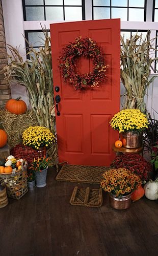 Country Theme Front Porch Decor