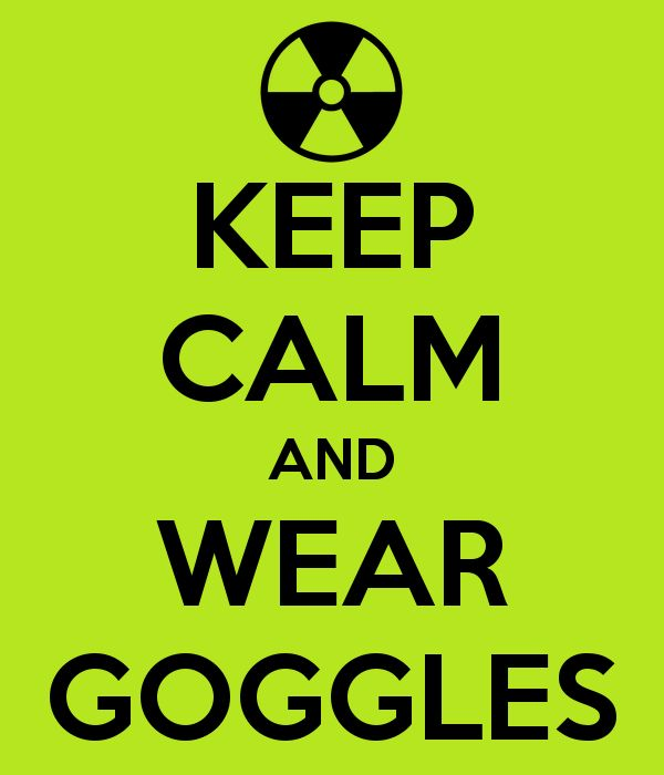 Science Safety Poster: Keep Calm and Wear Googles - (Make YOUR own Keep Calm poster at the Keep Calm O Matic site!)