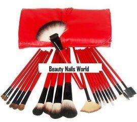 Pro Red Mineral Make-up Borstel en Penselen Set BS10