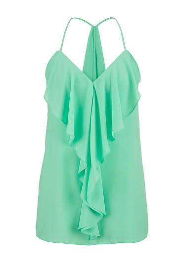 ruffle front and drape back chiffon tank (original price, $26) available at #Maurices