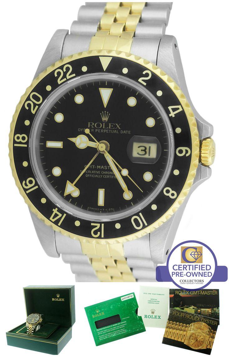 ORIGINAL-FINISH MINT Rolex GMT-Master II 16713 Two-Tone Black Date 40mm Watch