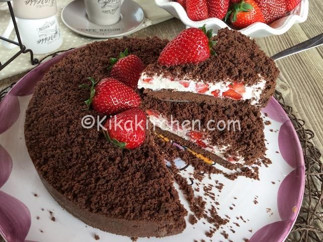 sbriciolata al cioccolato senza cottura