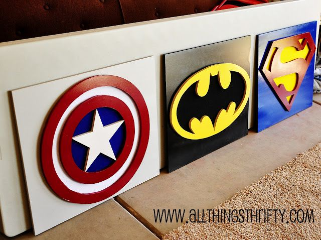 super hero decor (love these) for little boys room