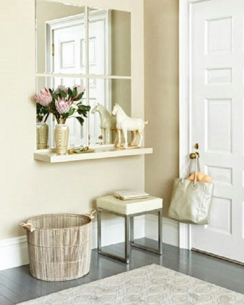 Faux Window Mirror For Your Inspiration Board: 15 Stylish Entryway Setups
