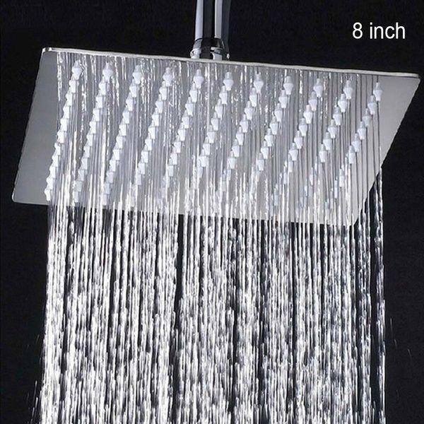 Bathroom Round Square Chrome Top Water Rainfall Spray Shower Head