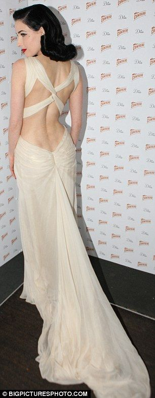 Elegance doesn't do this dress justice… Dita von Teese Cointreau Nov. 29, 2011 wearing Tadashi Shoji