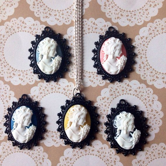 Classic Cameo necklace Cameo necklace by ArrowsAtMyWindow on Etsy