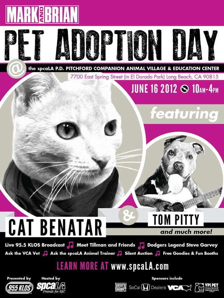 Mark & Brian Pet Adoption Day is June 16th! Adoptable Pets, Tillman the Skateboarding dog, vendors, & more!
