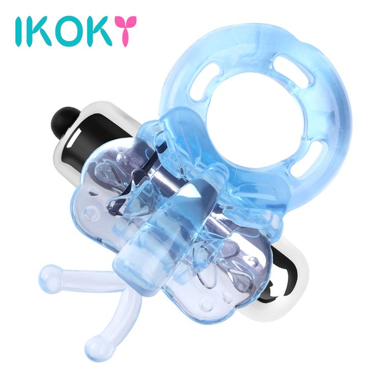 IKOKY Powerful Vibrating cock penis ring Sex shop Dildo vibrator Butterfly sex toy TPE //Price: $8.99 & FREE Shipping //     #hashtag4