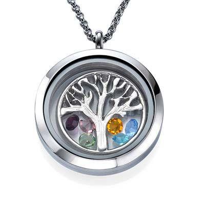 Schwimm Medaillon Schmuck -Familienstammbaum | MeineNamenskette