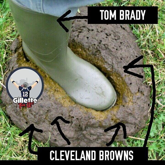 Early pic from tomorrow's game 😂 #NEvsCLE #TomBrady #patriots #patriotsnation #gilletteturnup