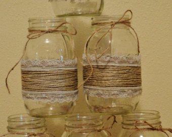 Conjunto de 10 mangas de tarro de masón decoraciones de la