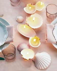 DIY Shell Chandles - Click image to find more DIY & Crafts Pinterest pins