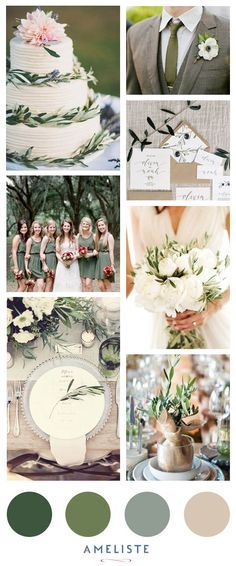 Mood-Board Wedding Sage Green // Wedding Inspirations #wedding #weddingideas