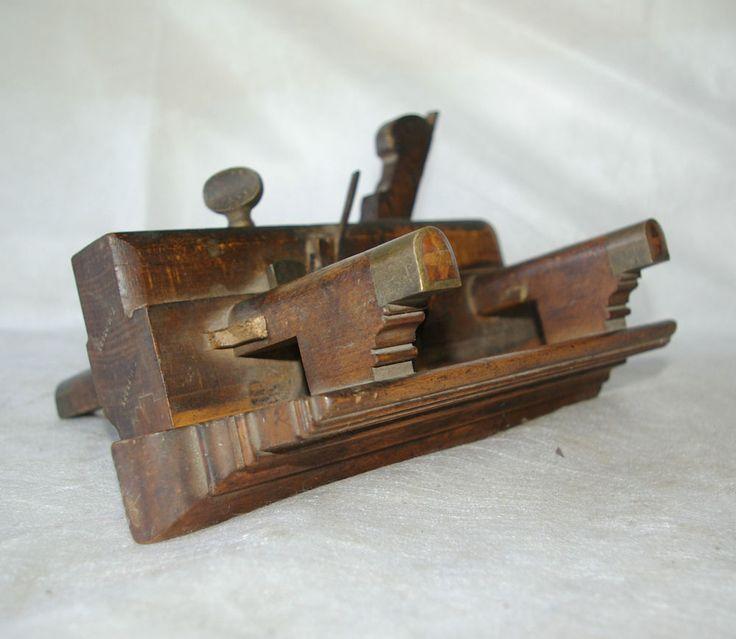 antique wood planes. vintage wooden plough plane old woodworking tool j. antique wood planes r