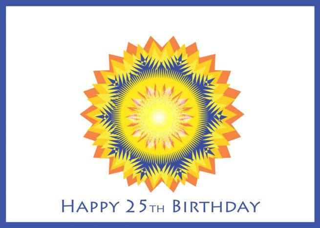 Happy Birthday For Fraternity Brother Blue With Orange Card
