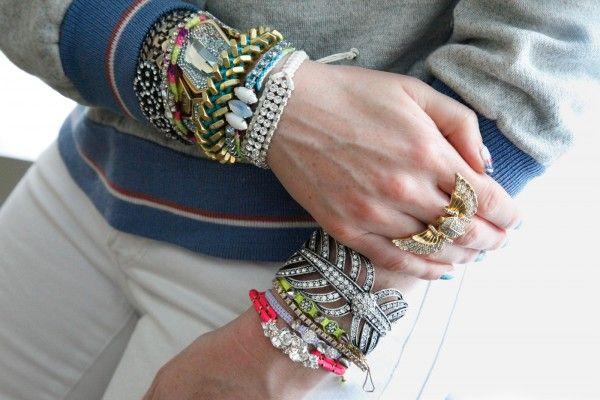 ray siegel's wrists: Devora Libin, Stacked Bracelets, Dannijo Cuffs, Frieda Friendship, Bracelets Make, Friendship Bracelets, Arm Candies, Arm Parties, Lulu Frostings