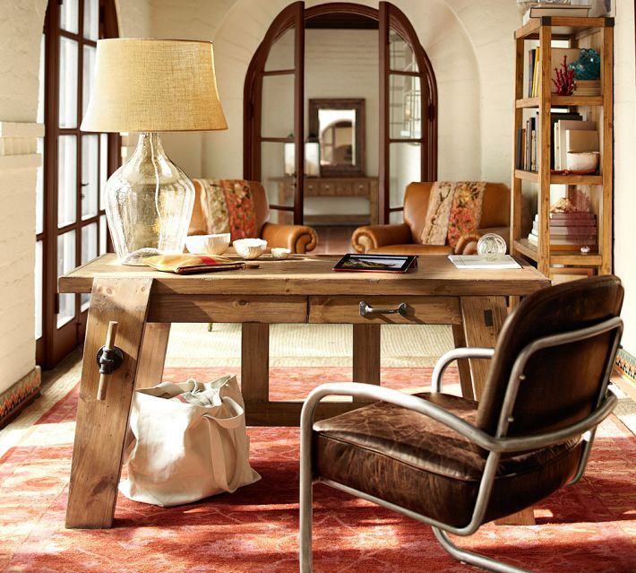 Small Office Den Decorating Ideas: Love This Home Office/den. Earthy, Neutral Colors, Mix Of