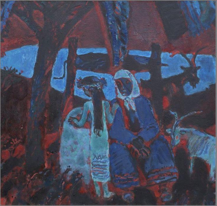Алексей Паршков «У колодца». 2010. Холст, масло. 95х100 см #art #contemporaryart #russianart