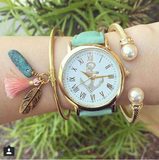 Anchor watch & bracelets  HelloMissApple