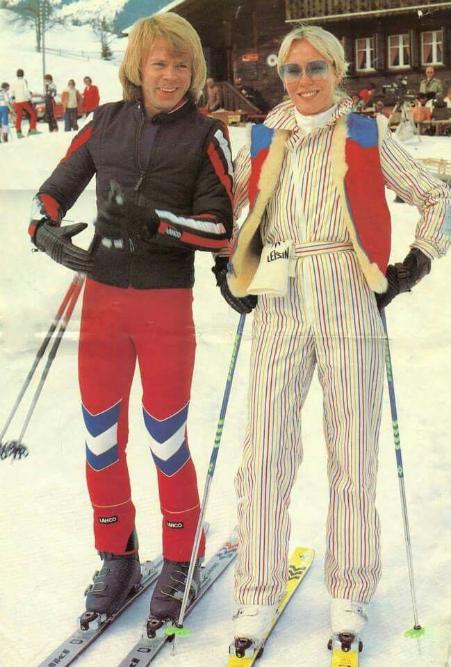 Anna and Bjorn in Leysin 1979