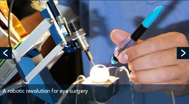 While performing vitreo-retinal surgery manually, the surgeon faces various challenges. Typically, delicate micrometer range thick tissue is operated, for which steady hand movements and high precision instrument manipulation are required, while forces are below the detection limit. The master-slave system of Preceyes (driven by maxon motor) provides speed and comfort to the surgeon, enabling to improve current procedures. - maxon motor