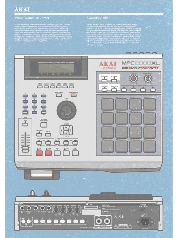 Akai MPC Poster by Stepan Solodkov, via Behance