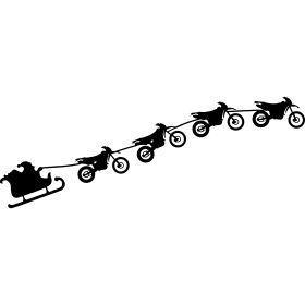Weihnachtsschlitten von fliegenden Enduros – Ein fliegender Weihnachtsmann in …..   – Let's go ride a bike