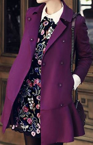 beautiful purple trench coat