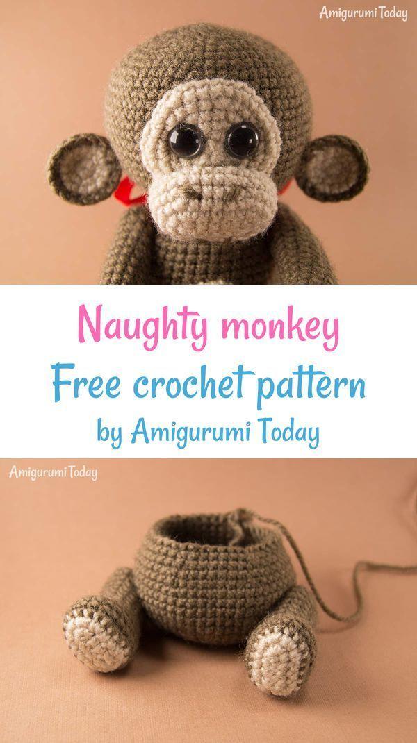 Kiko kawaii baby monkey - Free amigurumi pattern - Amigurumi ... | 1070x600