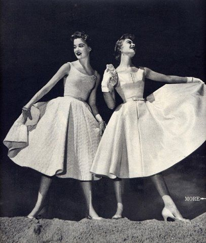 Fashion of 50s. Мода 50х.