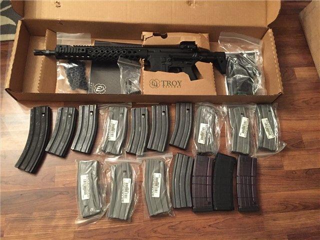 Troy AR 15 Like LWRC Spartan PDW Alpha 18 mags lot : Semi Auto Rifles at GunBroker.com