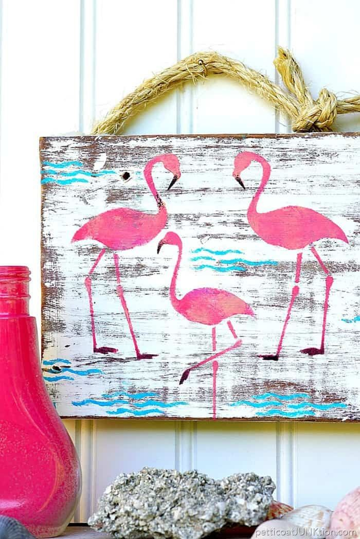 Pink Flamingo Junk Sign 2