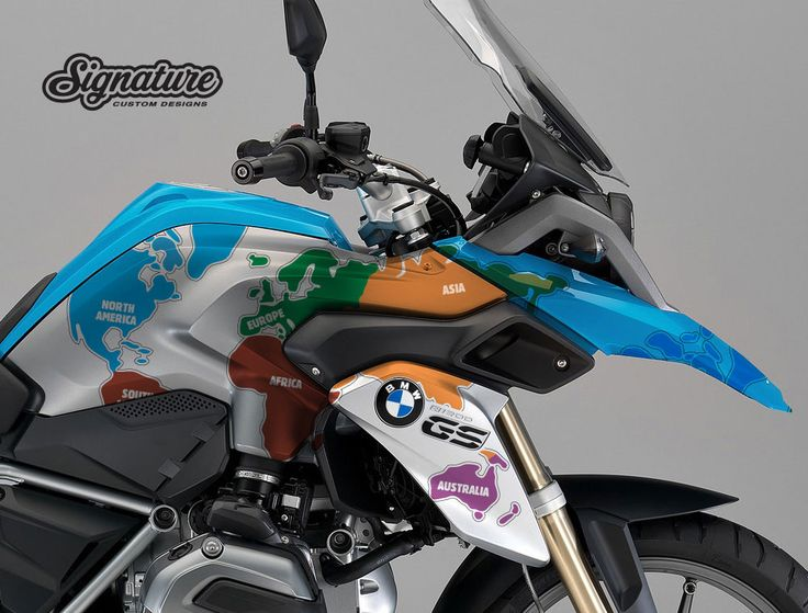 Bmw R1200gs Lc White Right Side The Globe Stickers Kit