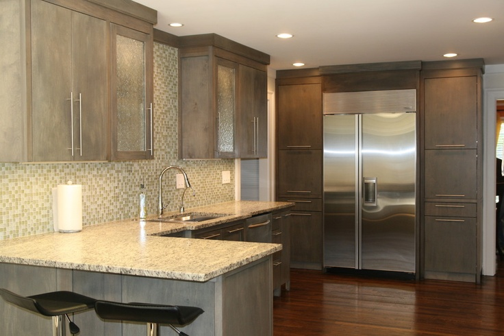 Driftwood cabinets kitchen pinterest modern kitchens for Contemporary kitchen cabinets grey