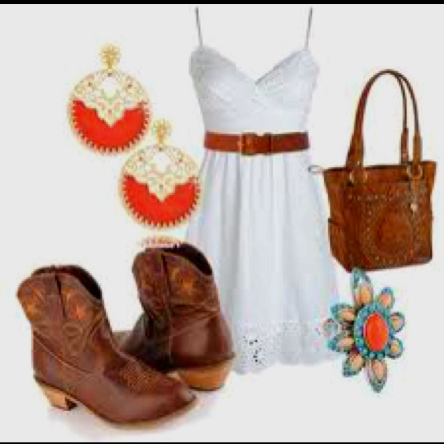 Cute summer country concert outfit :)Cowboy Boots, Summer Outfit, Summer Nights3, Country Outfit, Night Outfit, Country Girls, Concerts Outfit, Dates Night, Cowgirls Boots