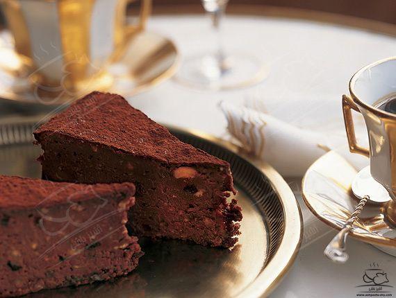 تورت شکلات و فندق (کیک بدون آرد)