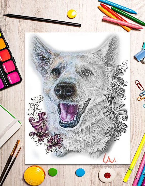 Coloring Book Page Pages Instant Download PagesDog LoversColour