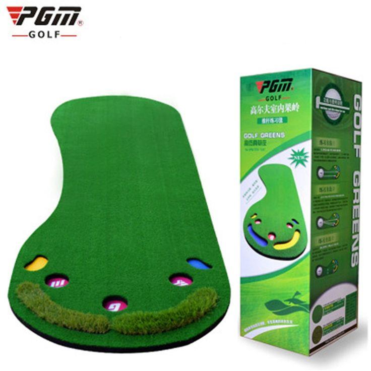 153.00$  Buy now - http://ali412.worldwells.pw/go.php?t=32764342867 - PGM Golf Putter Trainer Golf Green Carpet Big Feet Golf Trainer Mat Artificial Grass Carpet Green