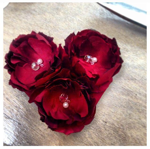 Custom order silk triple bloom bridal hair comb. Hand cut, hand shaped, hand sewn.