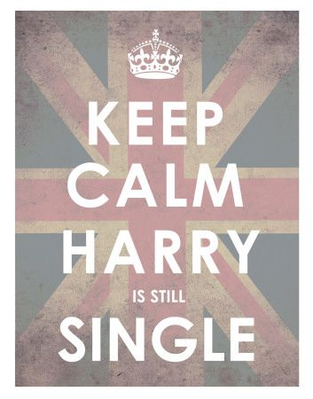 Keep Calm Harry is Still Single - Saw this first on facebook and had to chuckle. (The lady who gets to marry Harry is one lucky lady!! He'll be equally as handsome on his wedding day!)