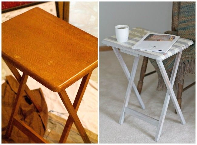 Upcycled Tv Tray Before And After Offbeat Inspired