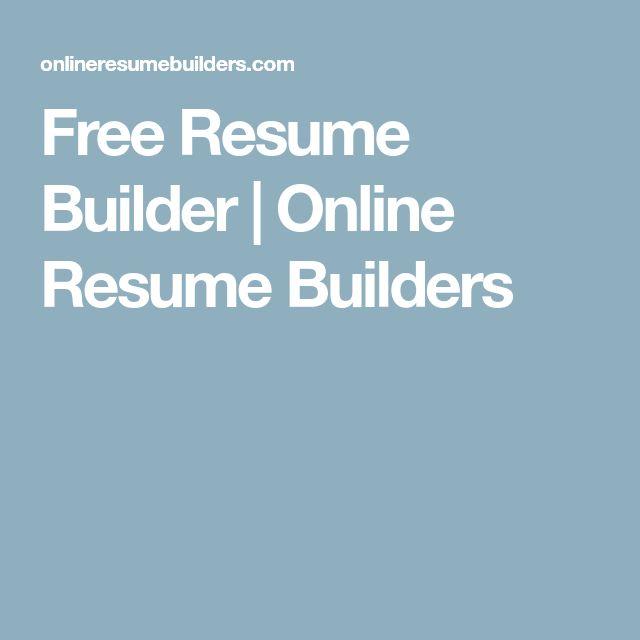 25+ ide Resume builder unik di Pinterest Riwayat hidup - online resume builder free