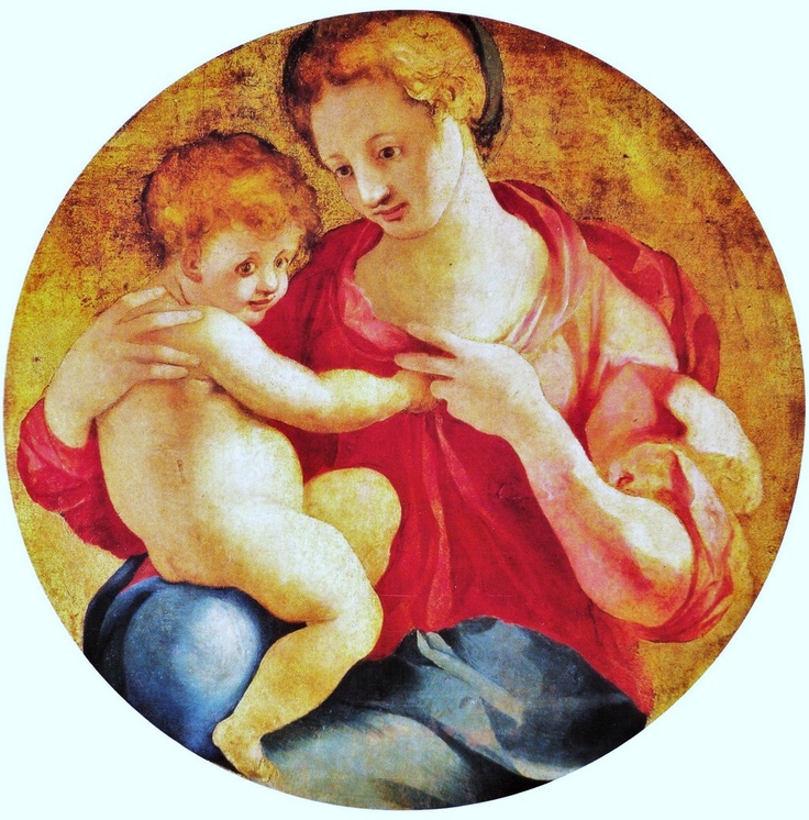 Madonna and Child by Jacopo Pontormo (Italian Mannerist painter, 1494–1557)