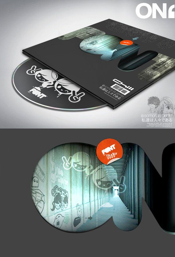 CD cover design with rich blacks and bold urban vibe.
