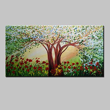 pintados à mão pintura a óleo da flor da árvore moderna paisagem abstrata sobre tela um painel pronto para pendurar 75x150cm de 4745726 2016 por R$194,27