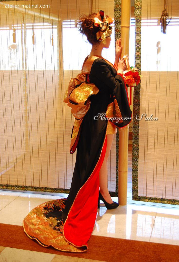 Kimono bride costume, Iro-daKake, kimono collar dress was remade Tomesode - wedding dress craftsman Keiko Furukawa bride Salon Atelier Matty null -