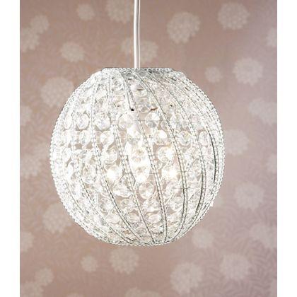 Beaded Acrylic Ball Shade - Clear - 24cm