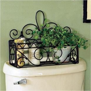 Fashion bathroom rustic iron wrought iron wall shelf bathroom rack wrought iron toilet frame soap holder
